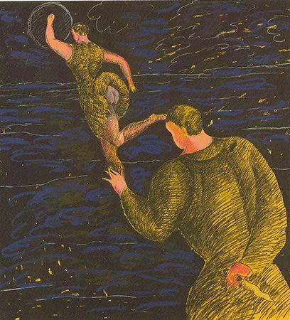 Sandro Chia 1981 Tempera, carboncino e matite grasse su carta 165.7 x 149.8 cm 1