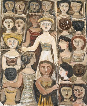 Massimo Campigli 1951-1952 Oil on canvas 140 x 117 cm 1