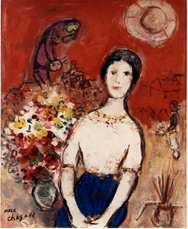 Marc Chagall 1953-56 Oil cardboard 27 x 22 cm 1