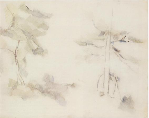 Paul Cézanne 1890 Watercolor and pencil on paper 21 x 26.2 cm 1