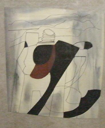 Ben Nicholson 1981 Oil on canvas overall 38.5 x 48.5 cm 1